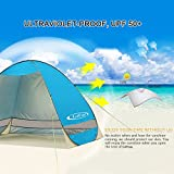 G4Free Outdoor Automatic Pop up Instant Portable Cabana Beach Tent 2-3 Person Fishing Anti UV Beach Tent Beach Shelter, Sets up in Seconds 78.7