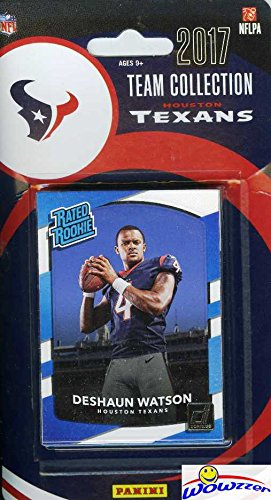 Houston Texans 2017 Donruss NFL Football Factory Sealed Limited Edition 12 Card Complete Team Set with Deshaun Watson RATED ROOKIE, JJ Watt, Tom Savage & Many More! Shipped in Bubble Mailer! WOWZZER! - Nfl Draft Houston Texans