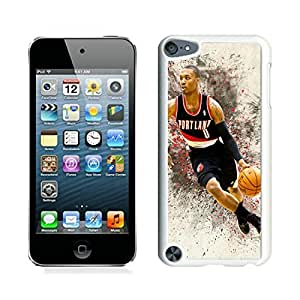New Custom Design Cover Case For iPod Touch 5th Generation Portland Trail Blazers damian lillard 4 White Phone Case