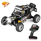 100 mph battery for rc cars - Geekper Terrain RC Cars,LED Light Remote Control Car,Electric Remote Control Truck Off Road Monster Truck, 1:18 Scale 2.4Ghz Radio 4WD Fast 30+ MPH RC Trucks 1 Rechargeable Batteries Black