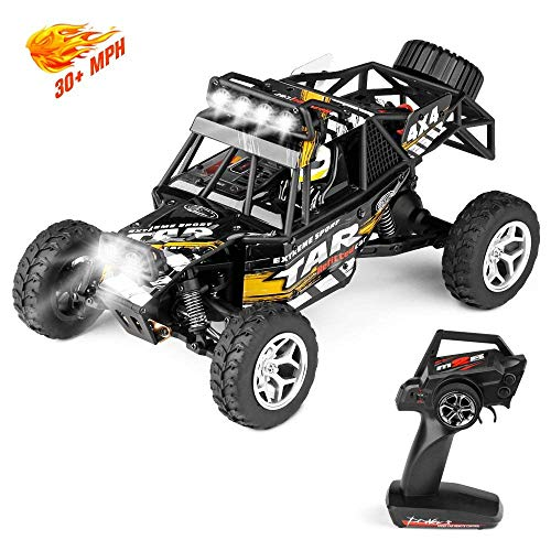 Geekper LED Light Remote Control Car, Terrain RC Cars, Electric Remote Control Off Road Monster Truck, 1:18 Scale 2.4Ghz Radio 4WD Fast 30+ MPH RC Car 1 Rechargeable Batteries
