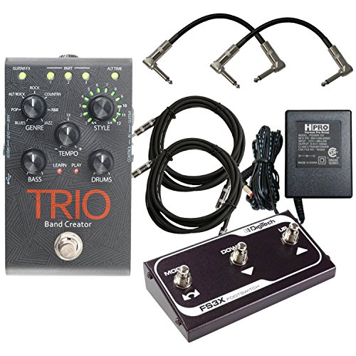 Band Creator Pedal and FS3X Footswitch - Digitech TRIO