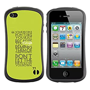 Fuerte Suave TPU GEL Caso Carcasa de Protección Funda para Apple Iphone 4 / 4S / Business Style Some People Don?t Like You