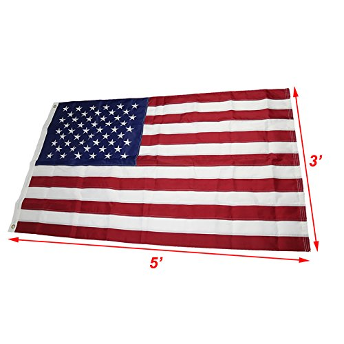 NuLink American Flag 3x5 Ft USA US Embroidered Stars Sewn St