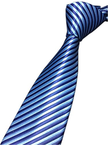 Silk Blue Ties Narrow (Xiessi Men's Classic Dark Blue Jacquard Woven Silk Tie Narrow Business Necktie)
