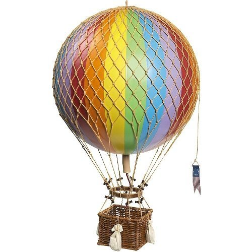 Authentic Models Light Hot Air Balloon in Rainbow -
