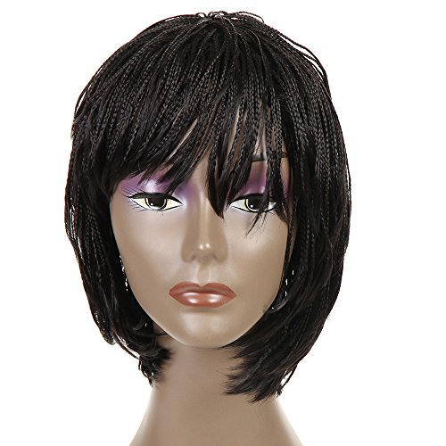 "Search : FeiBin Synthetic Lace Front Braided Lace Front Wigs Box African American Braided Wigs 12""(Color #2)"