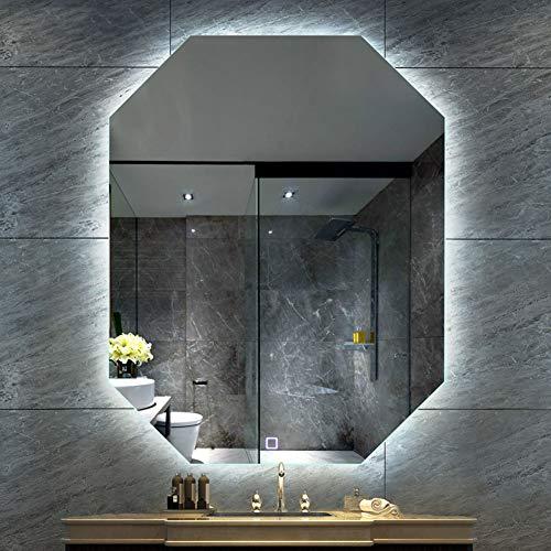 Illuminated Bathroom Mirror with LED Light to Measure Custom Size - Lighting -
