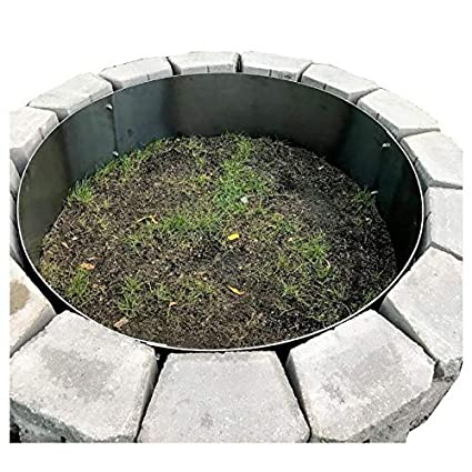 Amazon Com Round Metal Steel Fire Pit Campfire Ring Liner Insert