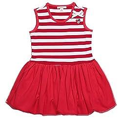 Oceankids Little Girl's Dresses Navy Blue Summer Sleeveless Stripe Flare Skirts 2 Years
