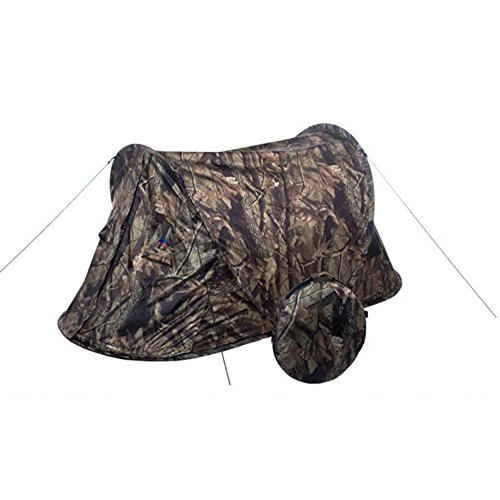 Pop Up Instant Portable Outdoors Tent Sun Shelter Camping Hiking Tent Camouflage(Double Person)