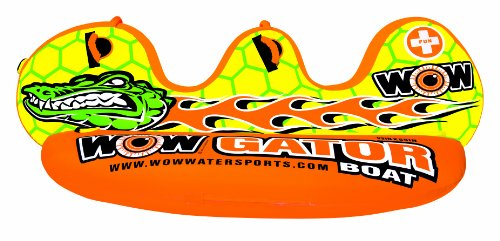 WOW World of Watersports, 14-1030, Gator Boat Towable, Separated High