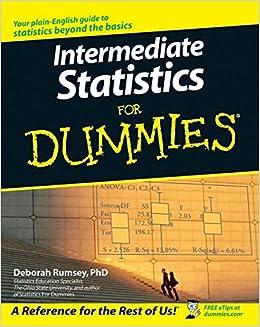 Amazon.com: Intermediate Statistics For Dummies (9780470045206 ...