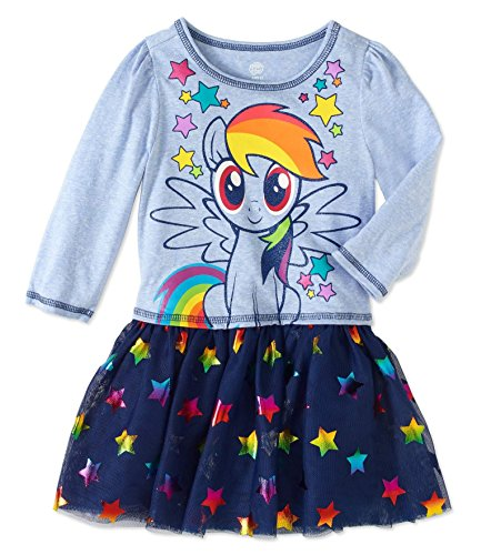 Toddler Girls My Little Pony I am Star Dress with Tutu Skirt -