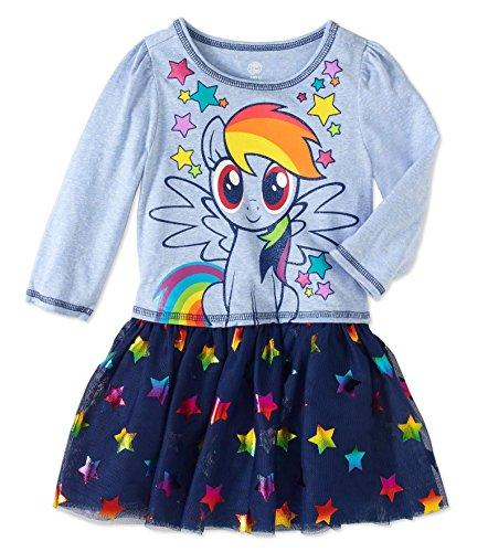 HIS international Toddler Girls My Little Pony I am Star Dress With Tutu Skirt (Little Pony Dress)