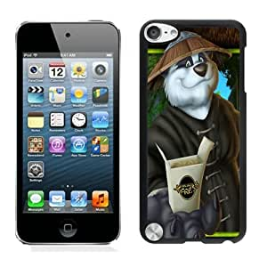 Beautiful DIY Designed With Panda Express Cover Case For iPod Touch 5th Black Phone Case CR-480