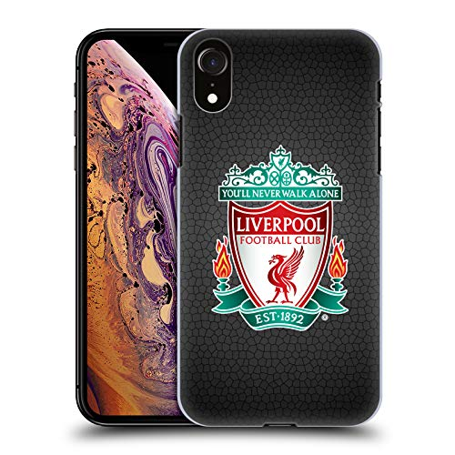 Official Liverpool Football Club Black Pixel 1 Crest 2 Hard Back Case Compatible for iPhone XR