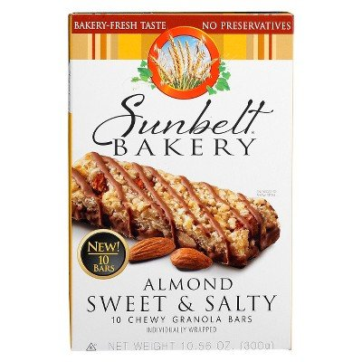 Sunbelt Bakery Sweet & Salty Almond Chewy Granola Bars 10. 56 oz, 10 Ct