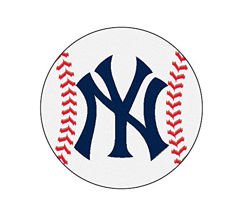 MLB New York Yankees Baseball Round Mat -