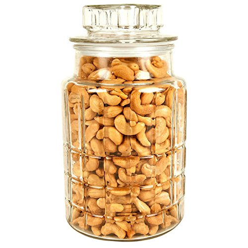 Price comparison product image EVAXO Extra Large Cashews Decorative Jar,  38 oz. (9.49 lb)