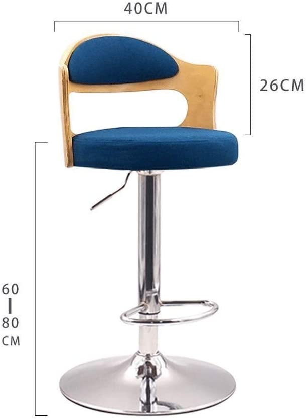 Sucastle LIFEIYAN Bar Stool, Log Linen Bar Stool, Home Lift Swivel Chair, Cashier Bar, High Stool (Color : G) I