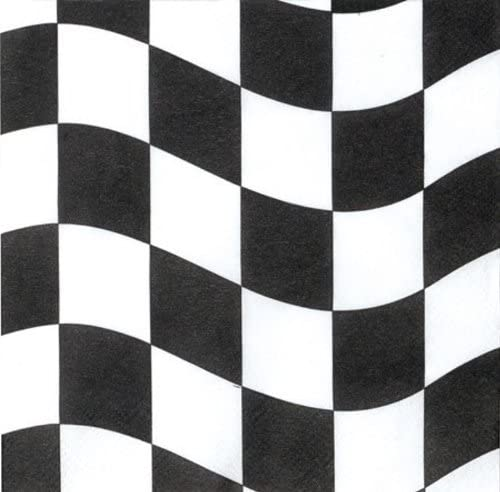 2 pack Black and White Check Creative Converting 18 Count Lunch Napkins