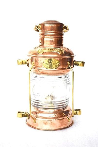 Sold by M.Nauticalmart Nautical Ship Lamp Copper Antique Lantern