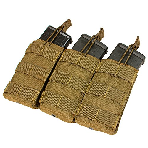 Condor Triple M4/M16 Open-Top Mag Pouch, Coyote Brown (M4 Triple Mag Pouch)