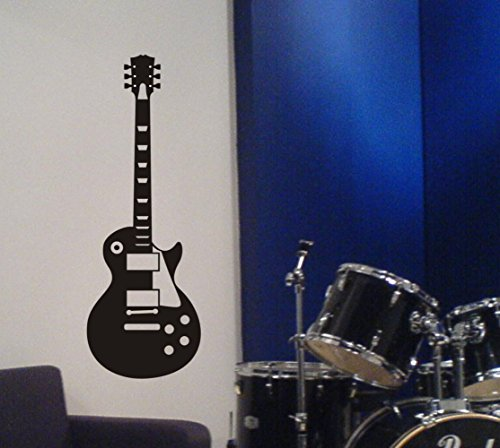 Arise Decals Electric Guitar Wall Decal Removable Sticker Gibson Les Paul Style