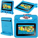 "i-Blason ArmorBox Kido Series for Kindle Fire HD 7 Inch Tablet Convertible Stand Cover Case Kids Friendly (will only fit Kindle Fire HD 7"" 1st Generation 2012) (Blue)"