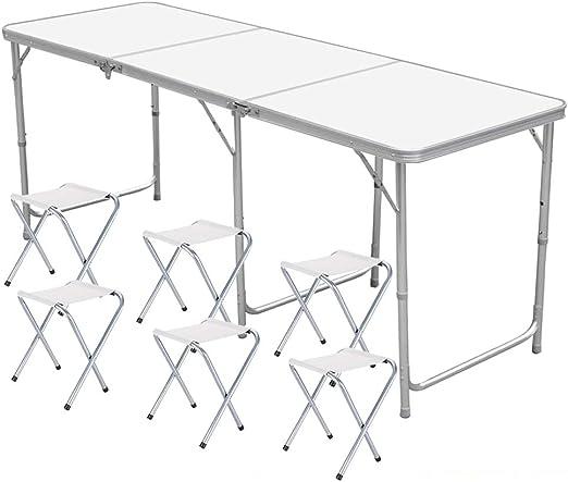 4FT Folding Desk Portabel Garden CampingWedding Party Table Strong 120CM Outdoor