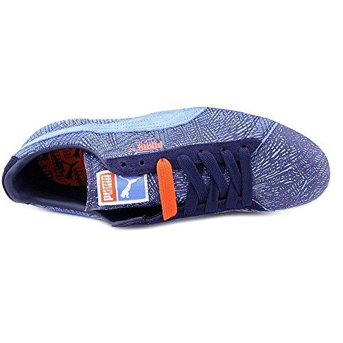 Puma Heren Mis-match Suede Ankle-high Fashion Sneaker Jongetje Blauw / Peacoat / Wit