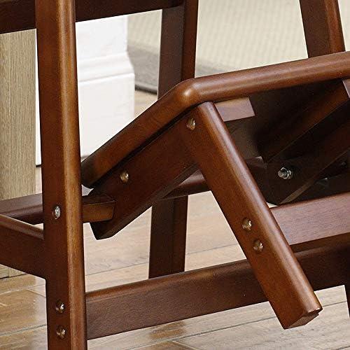 JINWEI Double Usage Pliable en Bois Massif Tabouret échelle Multi-Fonction Creative Banc en Bois Accueil Échelle Chaise à Double Usage Utilitaire président 34x55x58cm Stable Safe