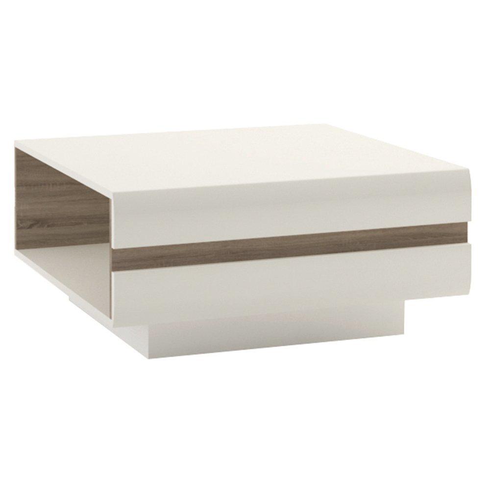 Furniture To Go Chelsea Small Designer Coffee Table, 75 x 39 x 75 cm, White Gloss Wojcik 4027144P