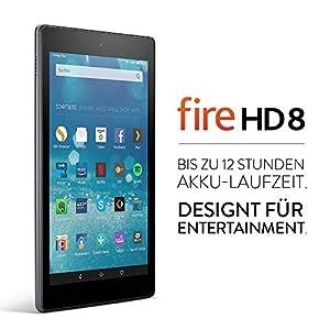 Fire HD 8-Tablet, 20,3 cm (8 Zoll) HD Display, WLAN, 16 GB (Schwarz) - mit Spezialangeboten
