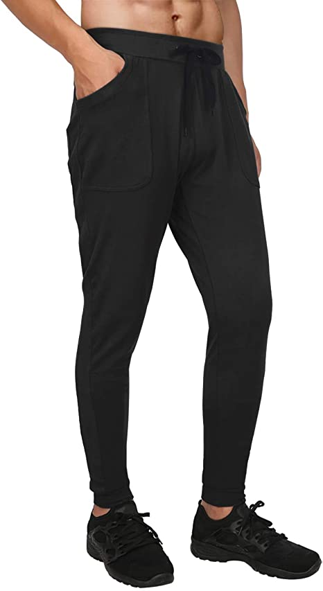 HDE Mens Athletic Yoga Pants Active Joggers for Men Casual Workout Gym Gear