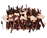 12 Inch USA Made Beef Steer Pizzle Sticks, 50 Pack By GoGo Pet Products…