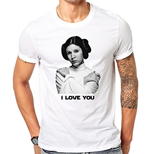 [Sexy Princess Leia Quote I Love You Star Wars Princess Laya T Shirt Small White] (Star Wars Leia Sexy)