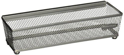 Rubbermaid Interlocking Mesh Drawer Organizer, 6 by 9-Inch, Titanium