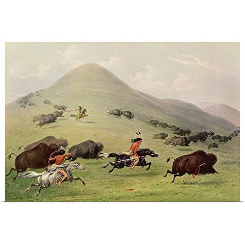 GREATBIGCANVAS Poster Print Entitled The Buffalo Hunt, c.1832 by George CATLIN 60