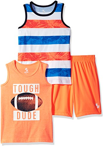 The Childrens Place Baby Boys Big 2 Tanks and A Pair of Shorts