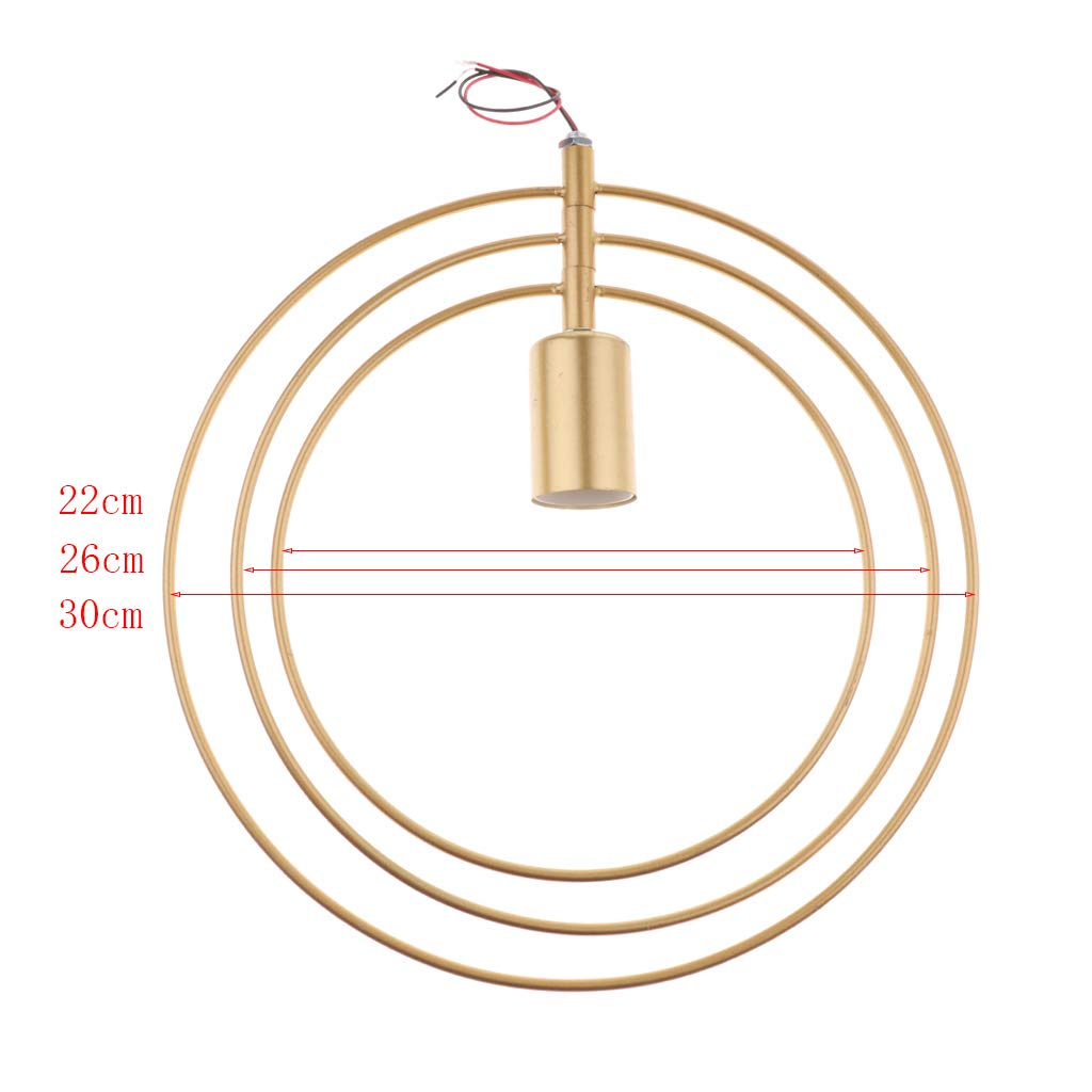 FLAMEER Abat-Jour de Plafonnier Cercle Lampe LED D/écoration Maison H/ôtel Bar Caf/ét/éria Dor/é