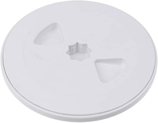 Marine 4/'/' Inch Screw Out Plastic White Round Boat Deck Plate Inspection