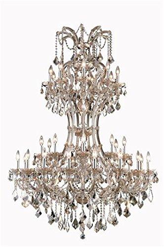 - Karla Golden Teak Traditional 36-Light Grand Chandelier Heirloom Handcut crystal in Golden Teak-2380D46GT-GT-RC--46