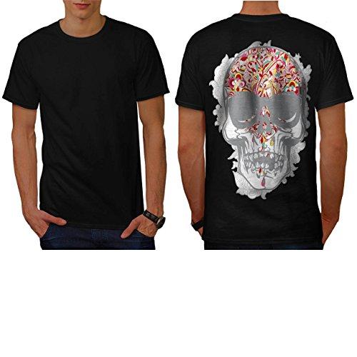 [Horror Flower Skull Grave Yard Men NEW M T-shirt Back | Wellcoda] (Spider Costume Pattern Free)