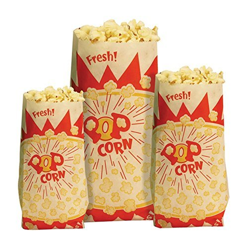 Paper Popcorn Bag (Set of 1000) Size: 1.5 oz.