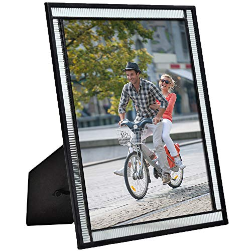- J Devlin Pic 322-81HV Clear Architectural Glass Picture Frame Tabletop 8 x 10 Horizontal or Vertical Photo Wedding Anniversary Graduation Modern Contemporary Home Decor