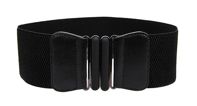 5f4e9502d VOCHIC Wide Elastic Plus Size Belt for Women Cinch Waist Belt Stretch  Waistband, Black,