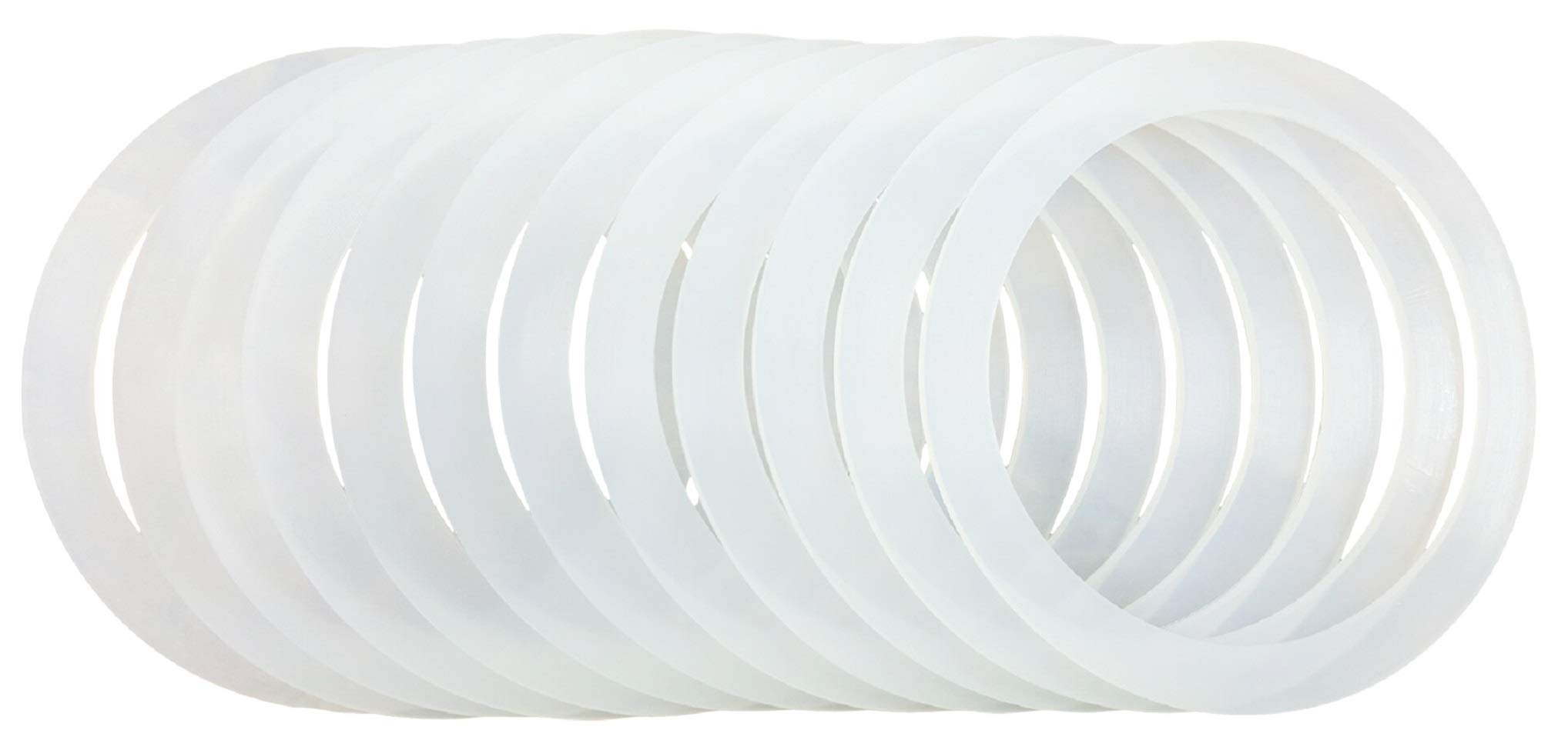 12 Silicone Gasket Sealing Rings For Mason Jar/Ball Plastic Storage Cap, Reusable Food-Grade Airtight Rubber Seal For Caning Jar Plastic Lids (12 WIDE MOUTH)