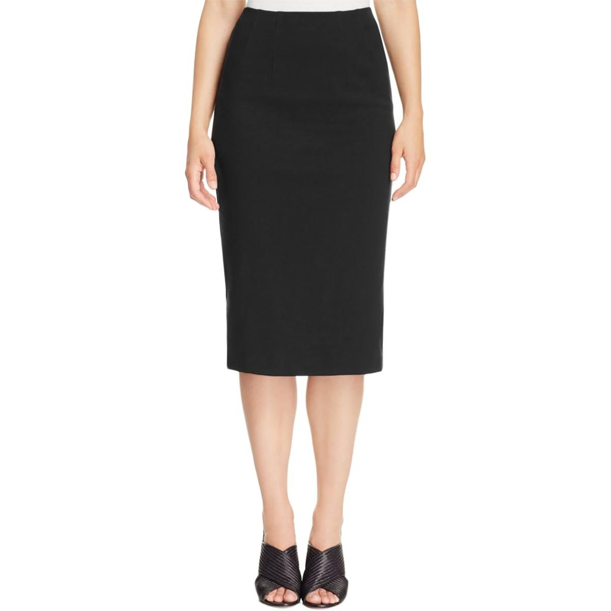 Eileen Fisher Womens Lined Pull On Pencil Skirt Black XS